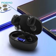 MINI Bluetooth 5.0 หูฟัง TWS หูฟังไร้สายจอแสดงผล LED กีฬาหูฟังในหูพร้อมไมโครโฟนสำหรับ iPhone Xiaomi Samsung