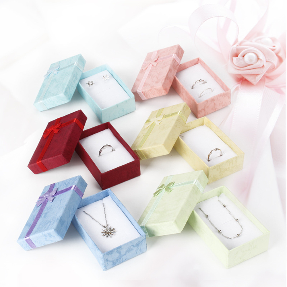 New Romantic Jewellery Gift Box Pendant Case Display For Earring Necklace Ring Watch Beauty Jewelry Organizer 1pc