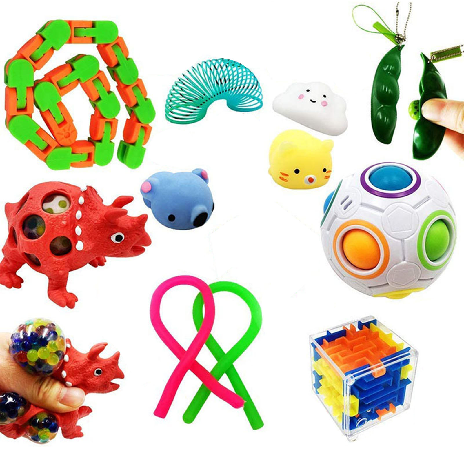 8pcs Carrot Squeeze Toy Carrot Shape Cute Stress Reliever Vent Toys for Kids