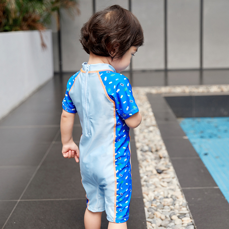 KID'S Swimwear BOY'S One-piece Set Boy Baby Infant Quick-Dry Surfing Tour Bathing Suit Korean-style Cartoon Set