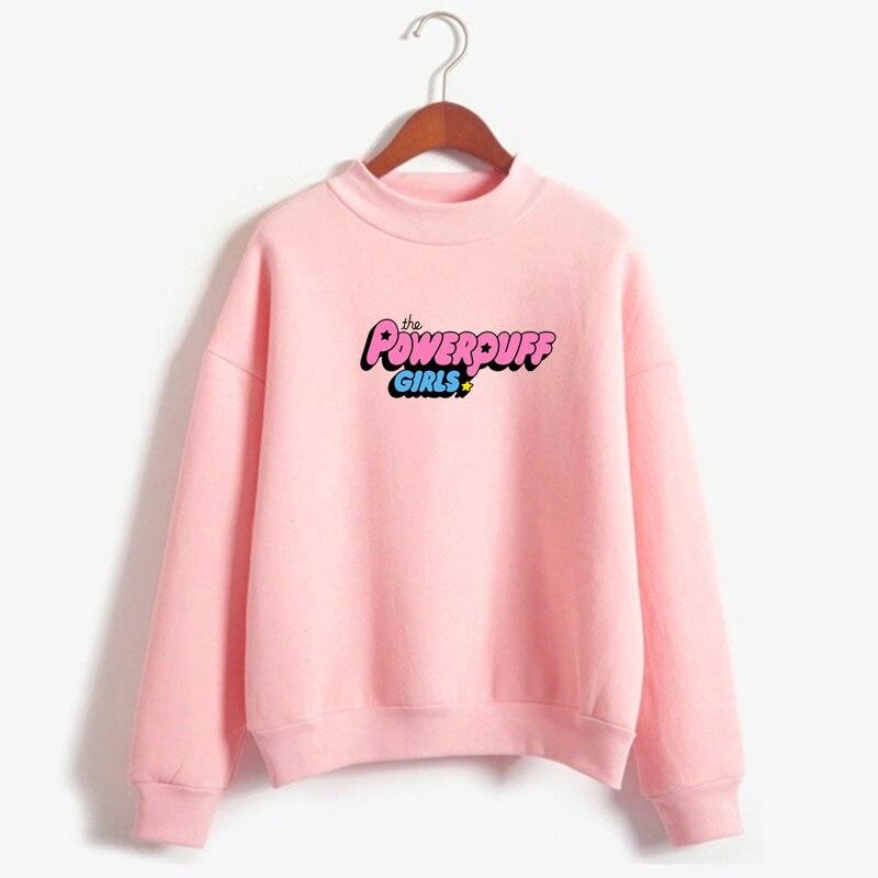 2019 Winter High Collar Sweatshirt Autumn And Winter   The Powerpuff Girls Sweatshirt, Ladies Amusement Park Sweatshirt Holiday