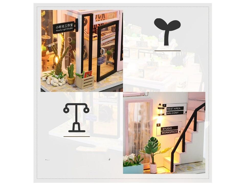 H924fe2e9b34b48259cf94e3fdbc594cdD - Robotime - DIY Models, DIY Miniature Houses, 3d Wooden Puzzle