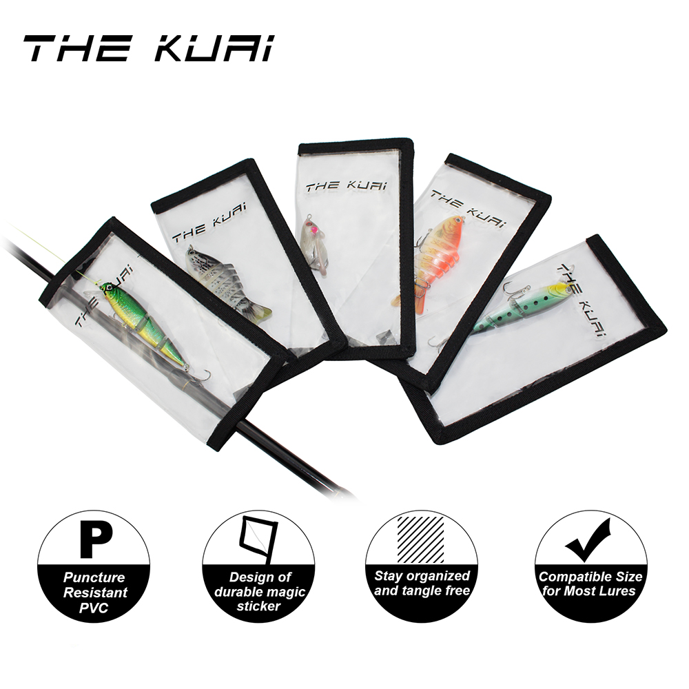 THEKUAI Fishing Lure Cover Lure Wrap Lures Protective Covers Clear PVC Hook Wraps  For crankbaits  spoons spinner baits 5pcs/box|Fishing Lures| |  - title=