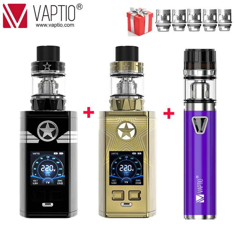 【UK SHIPPING】[GIFT KIT]VAPTIO CAPT'N Kit E Cigarettes 220W &2.0ml/4.0ml Atomizer TANK 510 Thread Without 18650 Battery