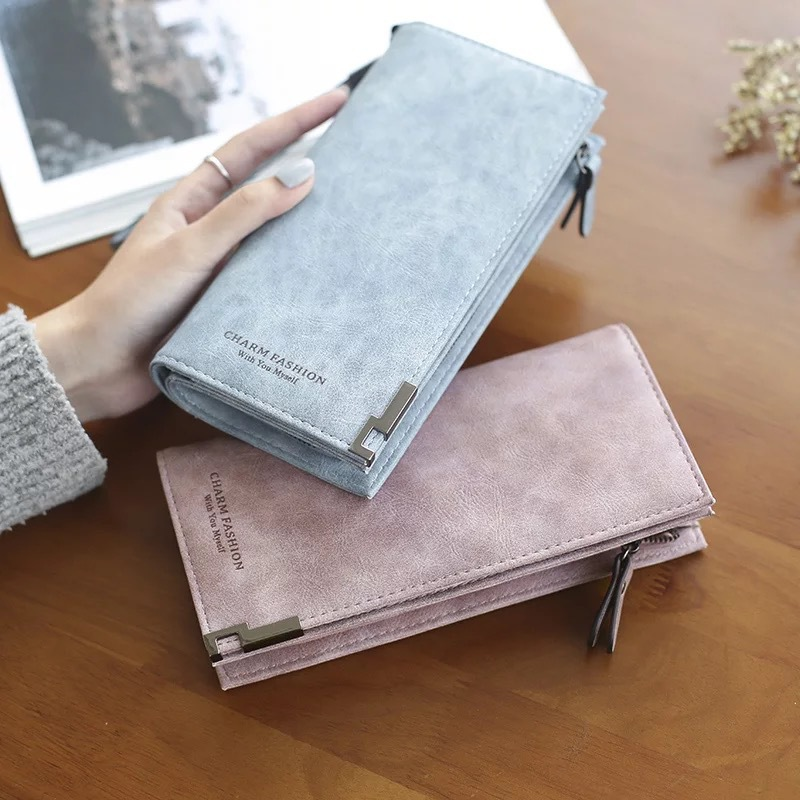 Clutch Matte Leather Purses Womens Phone Wallet Female Purse Bags Lady Wallet Women Purses Bag Ladies Cute Long Wallets Wristlet