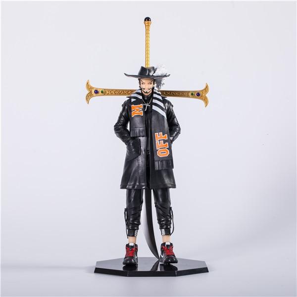 22cm One Piece Black Dracule Mihawk figure Anime Action Figure PVC New Collection figures Xmas toys B19