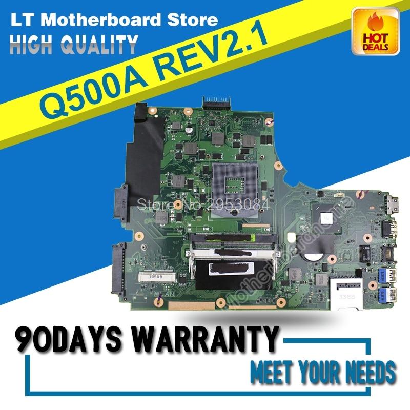 Для For Asus Q500A материнская плата для ноутбука Q500A материнская плата REV2.1 s989 60-NTGMB1000-B01 материнская плата Тест ОК S-4