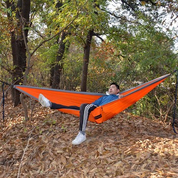 Outdoor Double Hammock Nylon Folding Ultralight Portable Hammocks For Travel Campus Leisure 300*200 CM