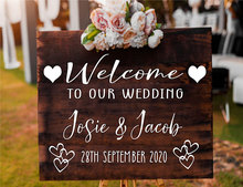 Personalised Wedding Party Welcome To Sign Wall Mirror Vinyl Decal Sticker Custom Bride  Groom Name And Date Removable WE32
