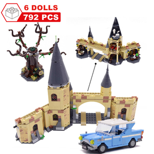 Image 4 - Movie Harri Pottered Hogwarte Castle Express Train Magic House Building Block  Bricks Toy for Children