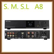 SMSL A8 XMOS Solution and ICEpower 125Wx2 Module and HIFI Audio Digital Power Amplifier DAC USB AMP(China)