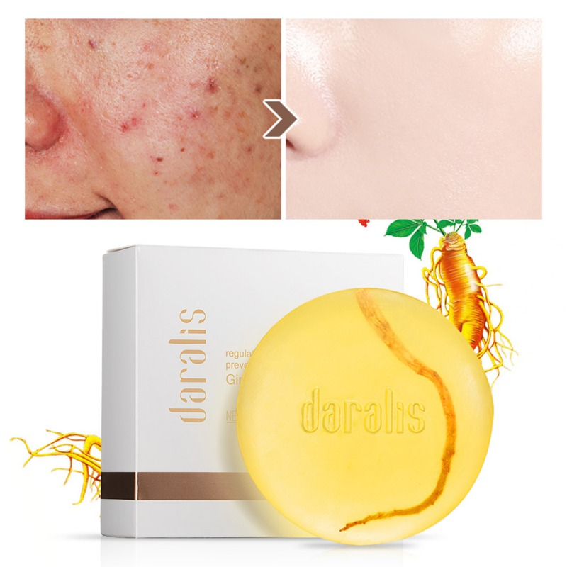 Ginseng Handmade Soap Moisturizing Pil-control Remove Ance Mites Cleaing Pores Ginseng  Essence Soap