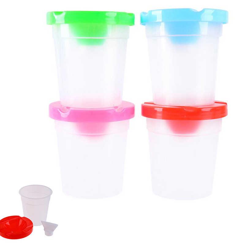 ¡Oferta! Copa de lavado para niños DIY, taza de pincel para escribir, taza para pintar, accesorios hechos a mano, entrega al azar, prevención de fugas de agua