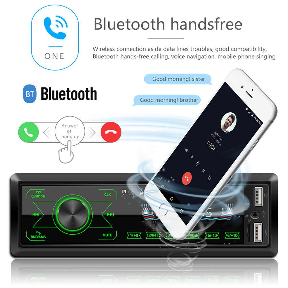 راديو السيارة ستيريو مشغل MP3 الرقمية بلوتوث 60Wx4 FM الصوت الموسيقى USB / SD مع في اندفاعة AUX المدخلات