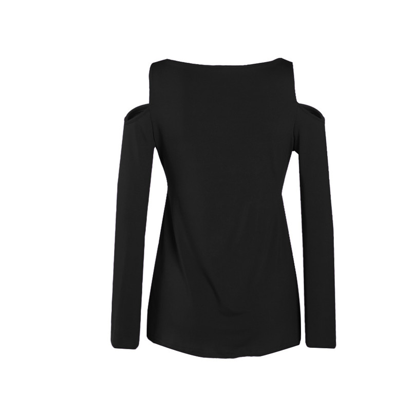 Taniafa New Autumn Women V Neck Long Sleeve Bandage T Shirts Casual Solid Color Lace Splicing Shirts Tops in T Shirts from Women 39 s Clothing