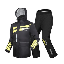 High-end quality raincoat men rain pants suit riding motorcycle raincoat  thick waterproof rainproof coat 3D reflective outdoor