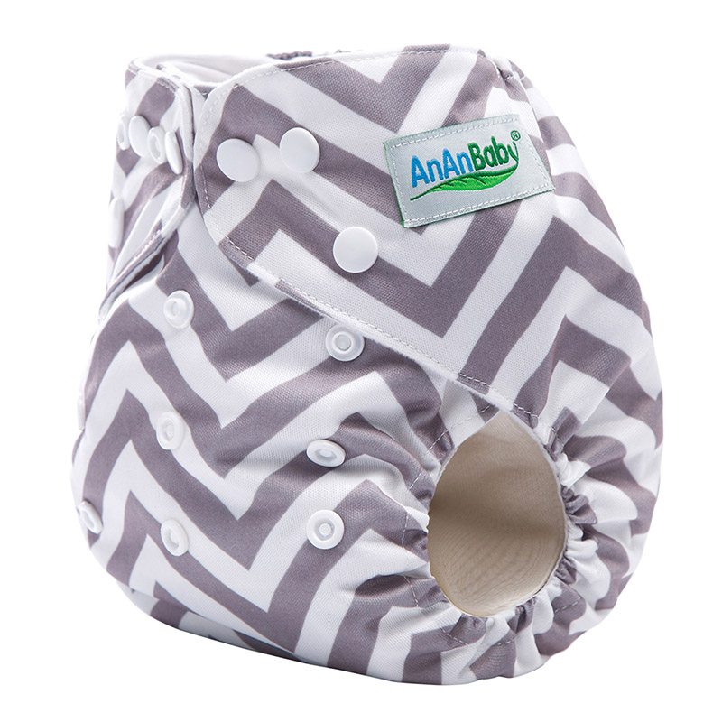 100Pcs/Lot Machine Print Eco Friendly Cloth Diapers With Insert Suit 3-15KG And You Can Choose A Suit