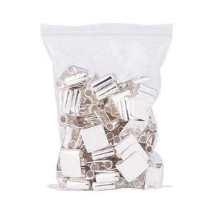 Image 5 - 100pcs Silver Color Brass Glue on Flat Pad Bails for Jewelry Making DIY Accessories Findings 18x15.5mm Hole: 4.5mm