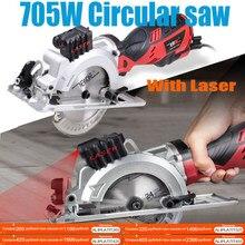 120v/230v 600w/705w serra circular elétrica da ferramenta elétrica mini com serra da multi-função do laser para cortar a madeira, tubo do pvc, telha