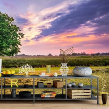 Custom 3D Wallpaper Beautiful Sunset Background Of European And American Landscape Art Wall Mural Dining Room Home Decor Fresco