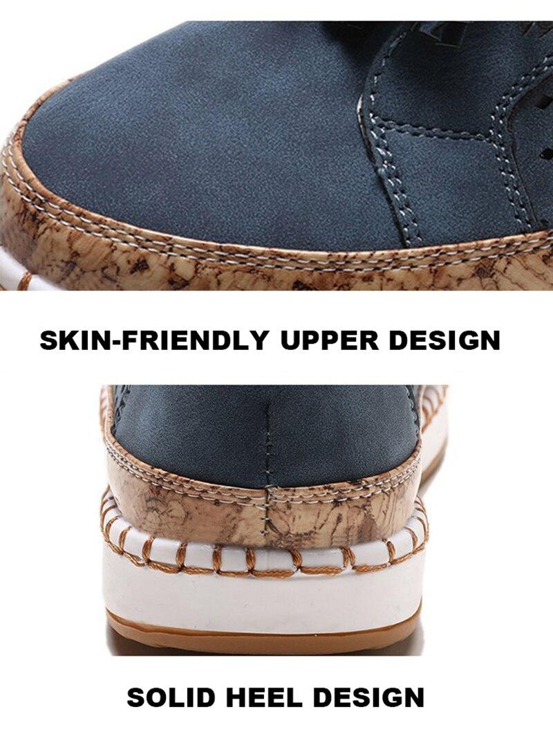 Sneaker Women Casual Shoes Fashion Breathble Lace-up Women Vulcanized Shoes Flat Platform Female Sneaker Zapatillas Mujer  (2)