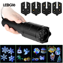 LEDGLE 2-in-1 Design 4W Flashlight Multi-purpose Projection Lamp Handheld LED Torch Lights with 2 Projection Modes for festival compatible 400 0184 00 com projection design f12 wuxga projector lamp for projection design f1 sx e f1 wide f1 sx ect