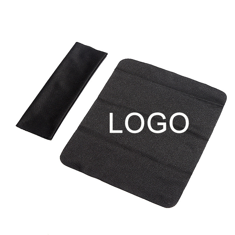 10pcs/set Sunglasses Cloth Microfiber Cleaner Cloths Cleaning Sunglasses Lens Clothes Black Eyeglasses Cloth Can Customized LOGO