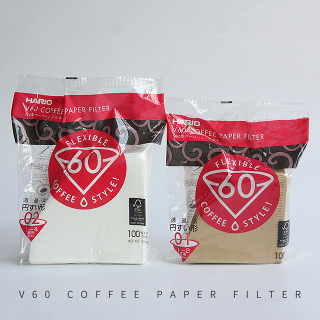 Hario V60 Filter Coffee Paper 1-4 Cup for Specialized Cafe V60 Dripper Barista for Coffee Maker Hario Genuine Reusable Filters 3