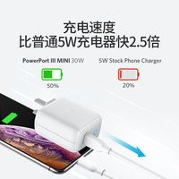 mini 30W PD quick charger flash charging for iphone android Rog phone Folding Travel fast Charger