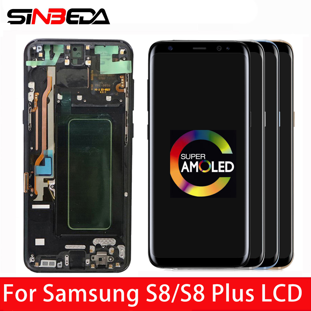 Original Super AMOLED For <font><b>SAMSUNG</b></font> GALAXY S8 S8 Plus <font><b>G950</b></font> G950F G955fd G955F G955 LCD <font><b>Display</b></font> Touch Screen Digitizer Assembly image
