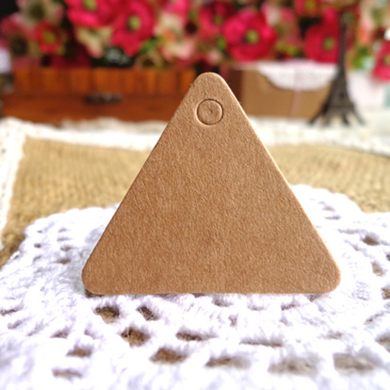 100pcs Blank Gift Tag Packaging Label Brown Kraft Black White Paper Tags DIY Label Wedding Price Hang Tag Gift Wrapping Supplies