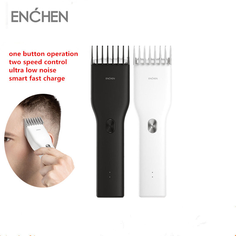 ENCHEN Men's Hair Clipper USB Rechargeable Adult Razors Professional Trimmers Corner Razor Hairdresse IPX7 Waterproof Hair Trimmers     - title=