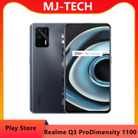 """realme Q3 Pro 5G Mobile Phone 128GB 6.43""""AMOLED 120Hz Refresh rate Dimensity 1100 Octa Core 30W Fast Charge 64MP mobie phone 1"""