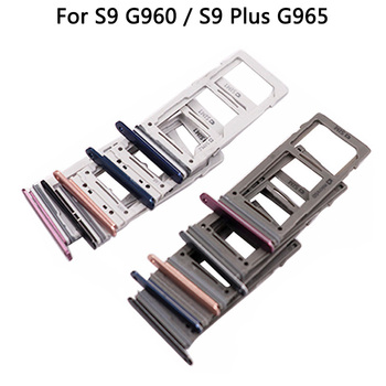 10pcs wholesale For Samsung Galaxy S9 S9+ plus G9600 G9650 Sim Tray Holder double single SIM Card Tray Slot Holder Replacement