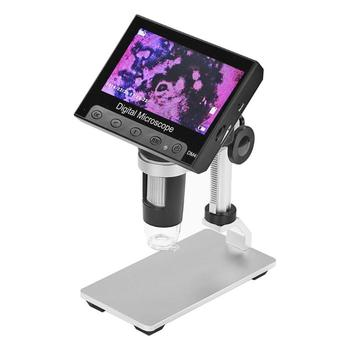 DM4 USB 4.3 inch HD LCD Soldering Microscope Phone Repair Magnifier Metal Stand Scalp Inspection Anatomy Laboratory Testing