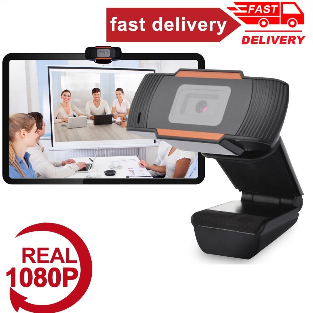 Caldo! Nuovo 360 gradi ruotabile 2.0 HD Webcam 1080p USB videocamera videocamera Web con microfono per PC