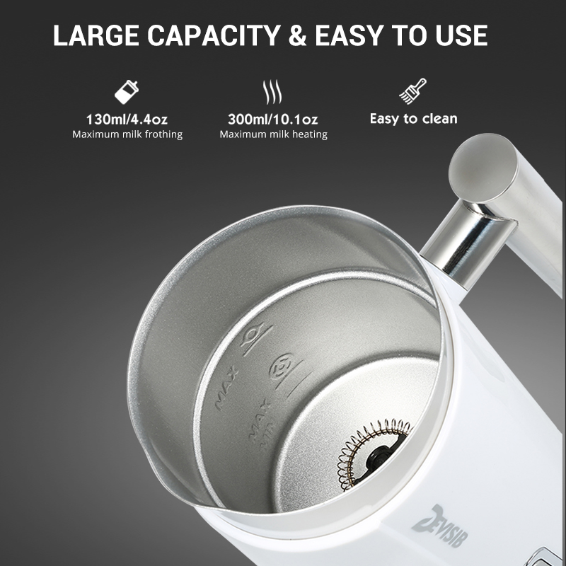 Image 4 - DEVISIB Automatic Milk Frother Milk Steamer Electric Cappuccino Hot /Cold Coffee Stainless Steel CE/GS 220V 3 Year Warranty-in Milk Frothers from Home Appliances
