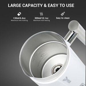 Image 4 - جهاز بخار كهربائي DEVISIB مزبد الحليب لصنع لاتيه كابتشينو شوكولاتة ساخنة جهاز تسخين أوتوماتيكي من الفولاذ المقاوم للصدأ للأجهزة المنزلية