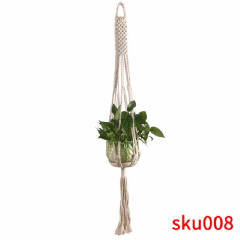 Wiszące sadzarki 100% handmade macrame wieszak na rośliny pojemnik na rośliny kwiat/wieszak na doniczki do dekoracji ścian countyard garden