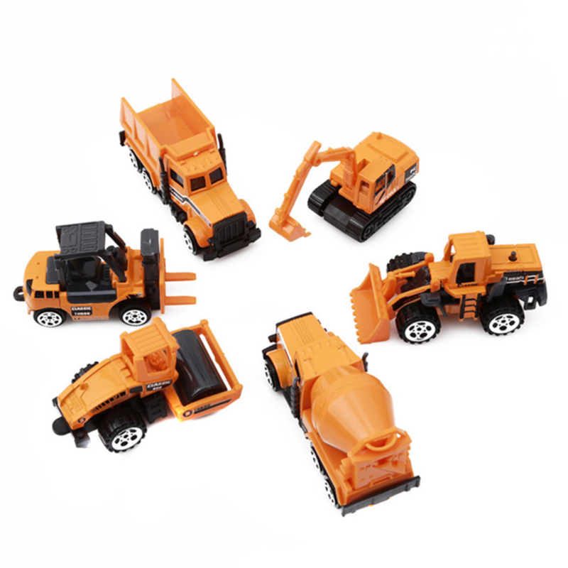 Forklift Child Mini Toys Engineering Vehicle Model Mixer Bulldozer Excavator Road Roller High Quality Exquisite Simple Model