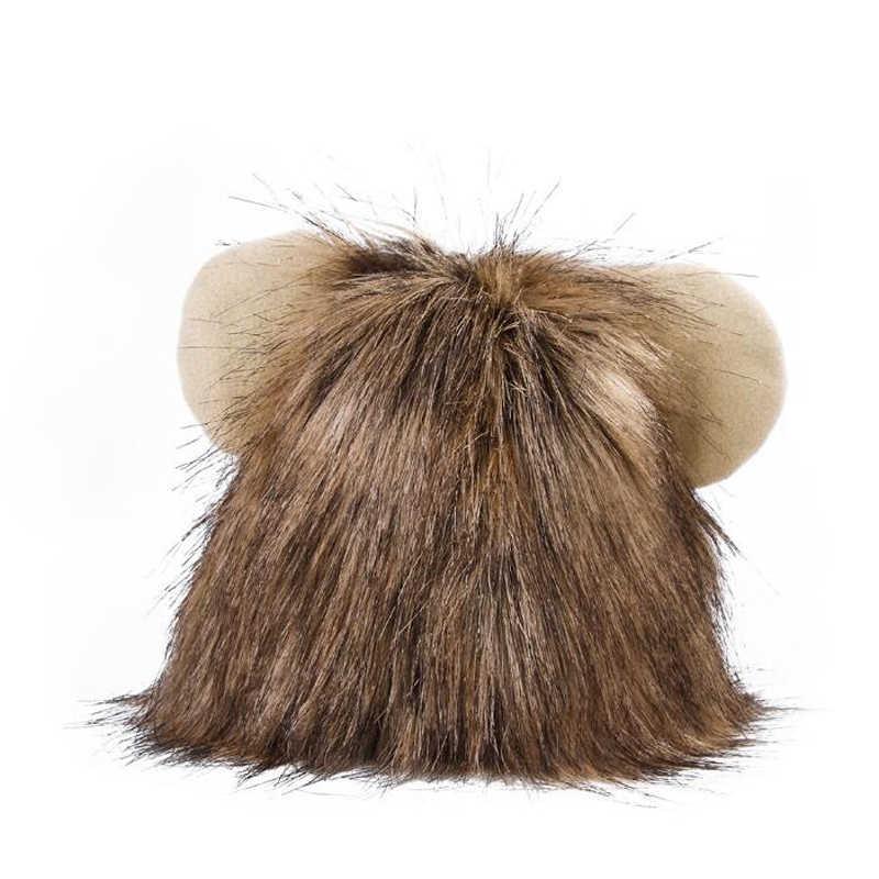 Pet Traje Cosplay Gato Juba Dos Leões Peruca Cap Chapéu de Natal Vestido com Orelhas de Cão Bonito Pet Fornecimentos Por Atacado S M L