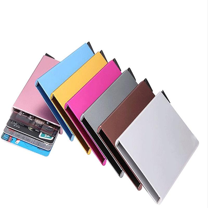 2020 Mini Slim Portable Smart Card Holders Rfid  Men Wallet  Bank Card Case Money Short Women Purse Cardholder