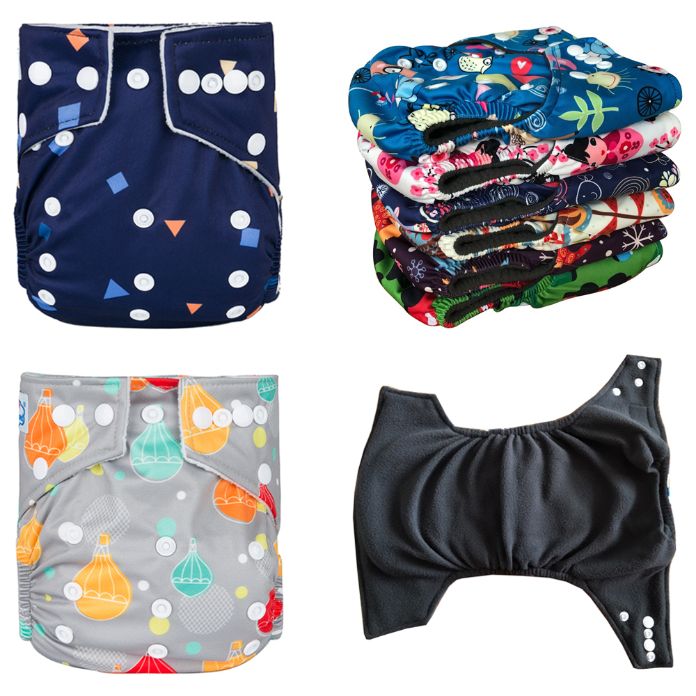 10% Discount 20pcs 100% Bamboo Charcoal Diapers Nappy Baby Cloth Diapers Pocket Diaper Covers 3k-15kg Baby Save Money Babyland