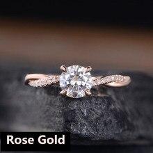 3 cores na moda zircônia cúbica cruz torção anéis para mulheres noivado festa de casamento jóias anel feminino acessórios tamanho 6-10