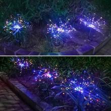 120 LED Dandelion LED light Solar Energy Fireworks Light Christmas Garden Outdoor Yard Decoration New Year Party Home Ornament