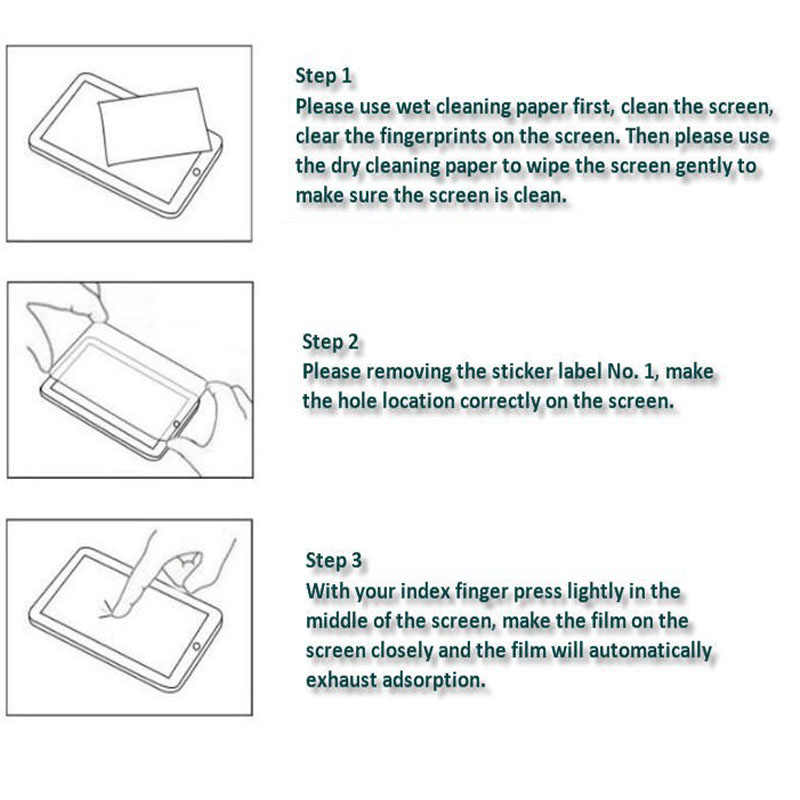 Temperli cam Film ekran koruyucu için Huawei MediaPad M6 10.8 8.4 M5 Lite 8.0 10.1 M3 8.0 T5 10 T3 9.6 T3 7.0 WiFi 3G T1-701U
