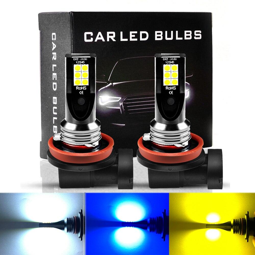 ASLENT H8 H11 туман светильник мини h7 светодиодный автомобиля, вождения, бега, лампа HB3 9005 HB4 9006 3000K 6000K 8000K luces светодиодный para Авто 12V