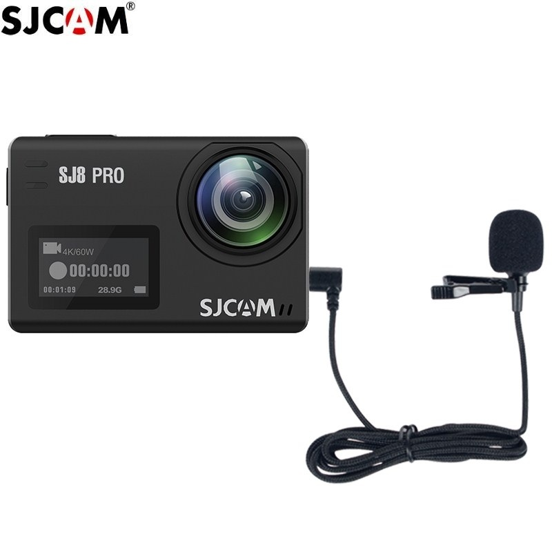 New Original SJCAM Series Accessories External Microphone with Clip Type C for SJ9 Max Strike /SJ8 Pro/Plus/Air Action Camera