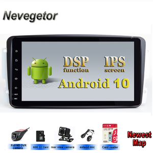 "In Stock 8""Android 10 Car DVD Player For Mercedes Benz CLK W209 W203 W463 W208 Wifi 3G GPS Bluetooth Radio Stereo audio media(China)"