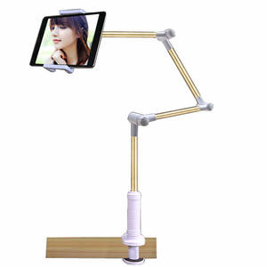 Folding Long Arm Tablet Phone Stand Holder For Ipad Pro 12.9 11 10.5 Samsung Kindle 4-14